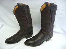 """LUCCHESE 2000 Mens Cowboy Western Boots Size10 2E Brown USA Leather 14.5"""" Tall"""