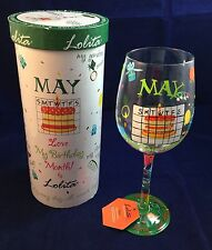 Lolita May Love My Birthday Month Wine Glass Retired