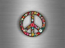 Sticker adesivi adesivo moto auto jdm bomb tuning casco peace and love fiore