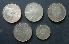 LOTTO 5 MONETE STATI UNITI DOLLARO DOLLAR 1983 1984 1990 1994 argento SUBALPINA