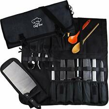 Chef Knife Roll Bag| 8+ Pockets for Knives & Kitchen Utensils