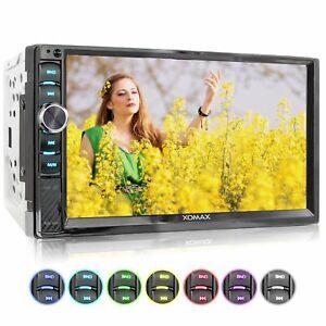 Autoradio 7 Zoll Kapazitiver Touch Monitor Bluetooth Mirror Usb Sd Mp3 Aux 2din