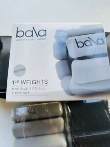 New Bala Bangles Ankle or Wrist Weights 1 lb each   Gray Bracelet