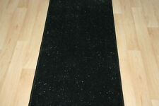 Black Glitter Runner Rug 8ft x 2ft Sparkly Runner Long Glitter Rug Hall Bedroom