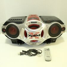 Sony Xplod Mp3 Cd Cassette Radio Red Lighted Cfd-G700Cp Remote Boombox Tested