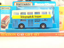 Vintage Matchbox Lesney SUPER KINGS K-15 The Londoner Telegraph and Argus Bus #2