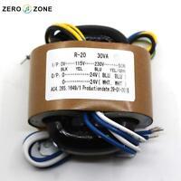 30VA (30W ) 0-115V-230V  high quality R Core Transformer 24V+24V