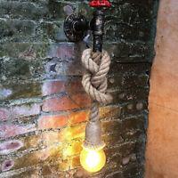 Applique a parete a forma di rubinetto attacco e27 in canapa stile vintage retro