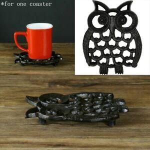 Owl Cast Iron Teapot Holder Trivet Mat Table Hot Pad Mat Heat Coaster Insulation