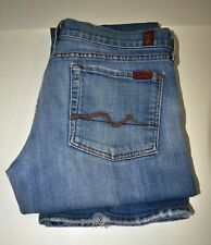 7 For All Mankind Womens Jeans Size 31 Bootcut Light Wash Denim *Measures 33x31