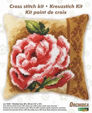Orchidea Kit Coussin Point de Croix - Grand - Rose - Travaux D'Aiguille Kits