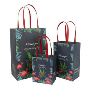 1Pc Flamingo Gift Paper Party Bags Packaging Decorative Wrap Supplies Wedding