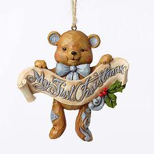 Jim Shore*BABY'S FIRST CHRISTMAS BLUE BEAR ORNAMENT*New 2016*NIB*Girl*4053852*1C