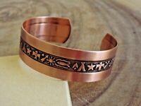 Pure Copper Arthritis Bracelet Solid Copper Adjustable Cuff Native Tribe Legend