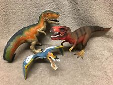 Lot of 3 Schleich Dinosaur figures Tyrannosaurus rex, Giganotosaurus, Anhanguera