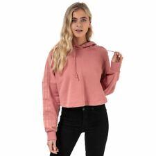 Para Mujer Adidas Originals Regular Fit Recortada Sudadera con capucha en color de rosa