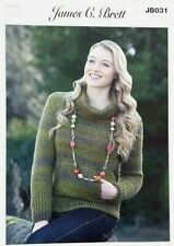 Knitting Pattern Ladies Womens Roll Neck Sweater Jumper in Chunky Knit