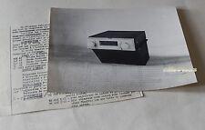 RARE PHOTO et DOSSIER PRESSE : POSTE AUTORADIO NX 491V Vintage PHILIPS