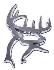 Buck Commander Chrome Metal Auto Emblem (3-D Buck) Officially Licensed