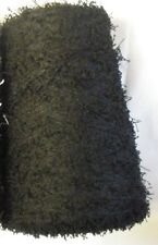 POLYESTER VINTAGE PIGTAIL 3000 YPP LACE WT CONE YARN 12 1/4 LBS BLACK  (P9)