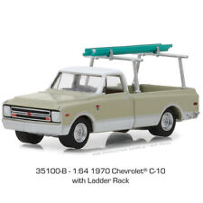 Greenlight 1970 Chevy C-10 w Ladder Rack Light Pastel Green/White  1:64 35100-B