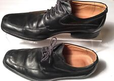 Belvedere Mens Classic Pointed Loafers Black Leather Dress Shoes Size 12 D