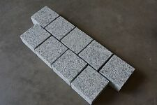 Silver sawn natural granite setts, contemporary edging for patio etc