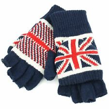 Union Jack Shooter Gloves Macahel Knitted Winter Unisex Warm Lined