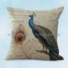 US SELLER, peacock retro cushion cover decorating living room