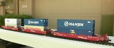USA TRAINS / S.P.  ARTICULATED 3-CAR INTERMODAL SET (with Containers)