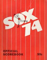 1974 MLB Baseball program, California Angels @ Chicago White Sox, unscored~ Fair