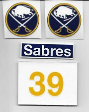 Dominik Hasek Buffalo Sabres #39 Cooper Helmet Decal / Sticker Set. 4 pcs.