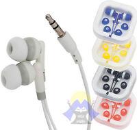 AURICOLARI Universali CUFFIE Ear MP3 MP4 Jack 3,5 mm NUOVI Sport BASSI Radio FM