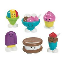 """MINI FAKE FOOD SMILING FROZEN DESSERTS WITH FACES 1"""" PVC CHARACTERS SET/ 6"""