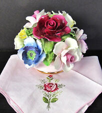 Radnor Roses Floral Bouquet,Hand Painted Pink China Bowl Excl Cond