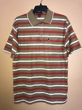 Vintage Nonstop Unlimited Style Polo Tee Brown/White/Red Orange Size S 70s Show