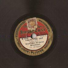 """RARE 8"""" - 78 tours Félix the Cat - Diga Diga Doo - BROADCAST - B 1909 - BELGIUM"""