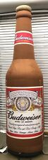 Vintage  Budweiser Beer Inflatable Bottle Rare! 9ft tall