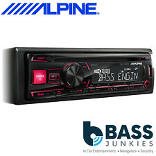 Alpine CDE-180RR Single Din CD MP3 USB AUX Car Stereo Player Red Display