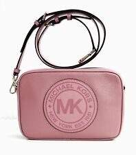 Michael Kors Original Shoulder Bag Fulton Sports LG cross Body Pink Leather New