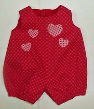 """Heart Print Romper to fit Deluxe Reading Baby Boo 20"""" or similar size Doll"""