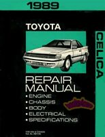 CELICA 1989 TOYOTA SHOP MANUAL SERVICE REPAIR BOOK