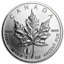 New 2012 Canadian Silver Maple Leaf, Leaning Tower of Pisa Privy Mark 1oz Coin