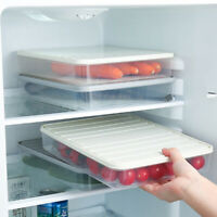 Freezer Food Storage Container Stackable  Food Saver Box with Lid to Keep Meat