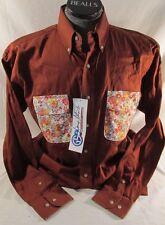 Mens George Strait Wrangler Long Sleeve Shirt Western Cotton XXL Brown