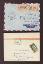 FRENCH IVORY COAST NDOUCI 1959 + 1964 HEXAGONAL + DOTTED CIRCLE CANCELS