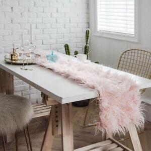 Faux Wool Shaggy Fur Table Runner Fluffy Table Cloth Table Runners Table Decor