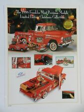 Franklin Mint 1955 CHEVY CAMEO Pickup Truck Brochure Pamphlet Mailer (S)