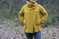 Quirky Lagenlook Italian One Button Wool Coat Wrap Jacket One Size 8 - 14