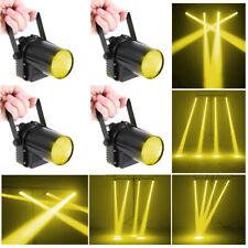 4X LED Pinspot Punktstrahler Spot Beam Spiegekugel Disco Party Bühnenlicht Gelb